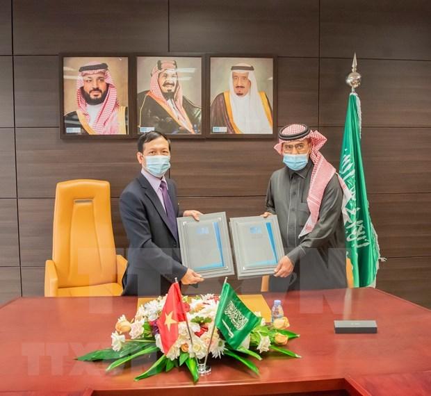 Agencias noticiosas de Vietnam y Arabia Saudita firman memorando de cooperacion hinh anh 1