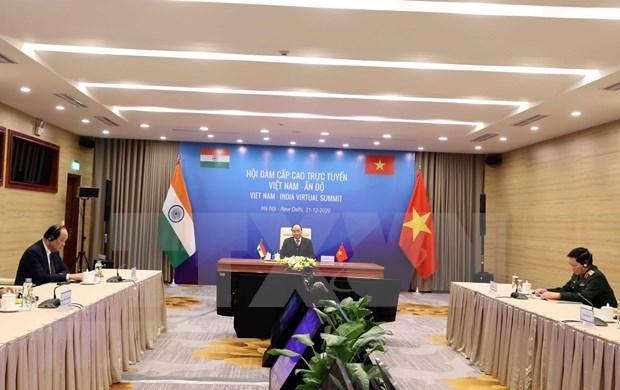 Presentan Vietnam y la India vision conjunta sobre la paz, la prosperidad y el pueblo hinh anh 1