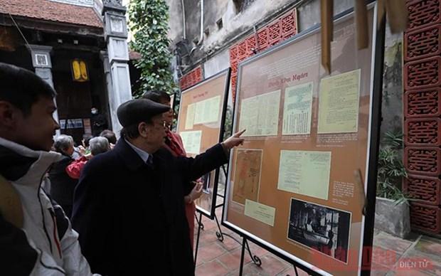 Abren exposicion sobre oficios tradicionales en casco antiguo de Hanoi hinh anh 1