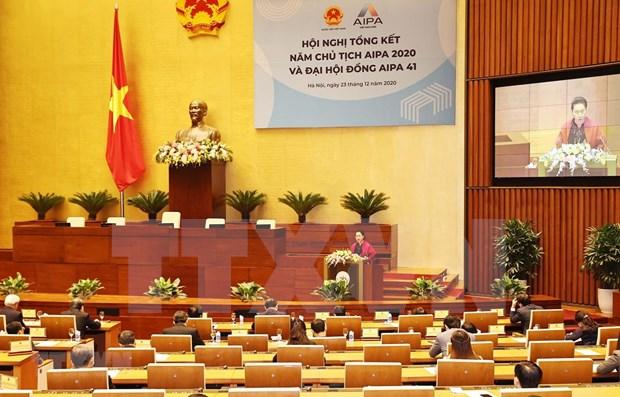Resaltan exito de Asamblea Nacional de Vietnam en cargo de presidente de AIPA hinh anh 1