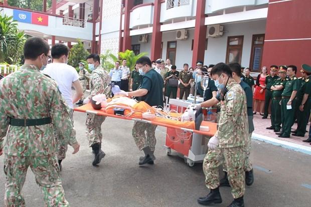 Tercer hospital de campana de Vietnam, en ultimo preparativo para misiones de paz hinh anh 2