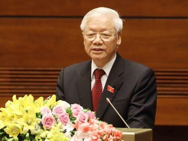 Maximo dirigente de Vietnam felicita al Partido Comunista de Francia por su fundacion hinh anh 1