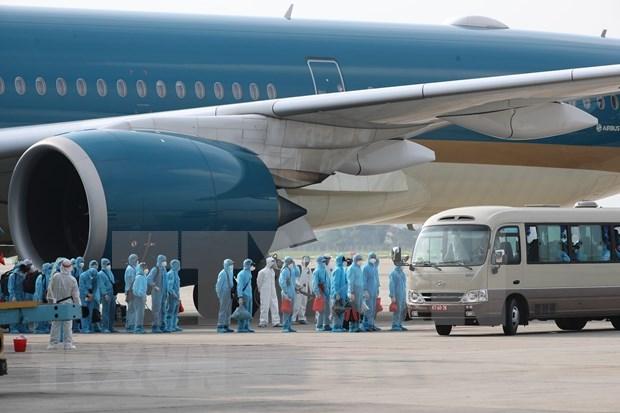 Repatria Vietnam a mas de 340 compatriotas desde Rusia en medio del COVID-19 hinh anh 1