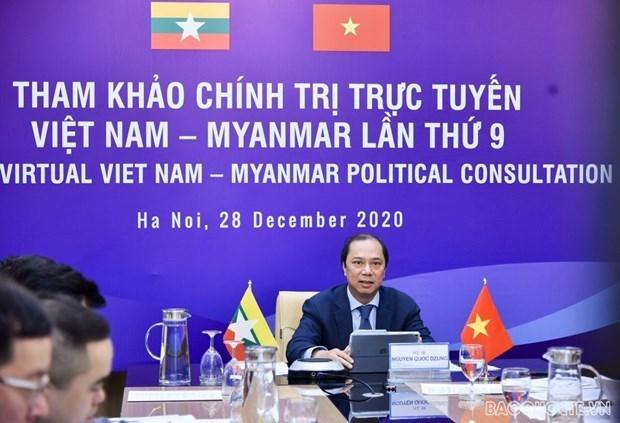 Vietnam y Myanmar efectuan novena consulta politica a nivel vicecanciller hinh anh 1