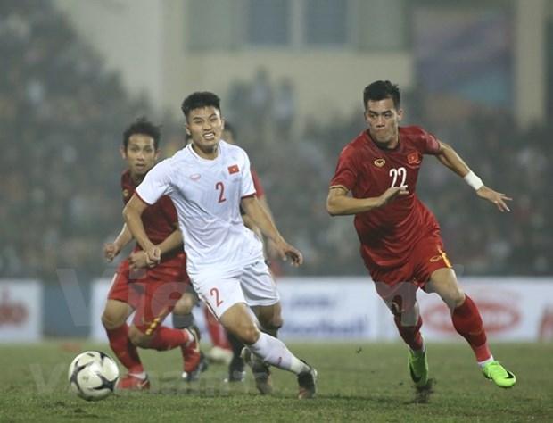 Seleccion nacional de Vietnam empata con equipo sub-22 en partido amistoso hinh anh 1