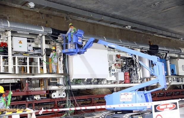 Completaran tuneladora de tramo subterraneo del metro Hanoi hinh anh 2