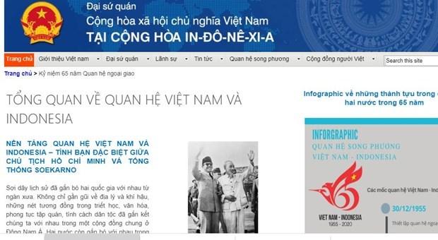 Lanzan pagina electronica por aniversario 65 de relaciones Vietnam-Indonesia hinh anh 1
