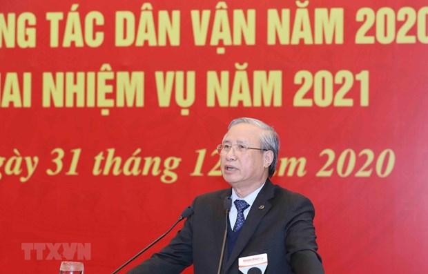 Dirigente vietnamita insta a renovar trabajo de movilizacion de masa hinh anh 1