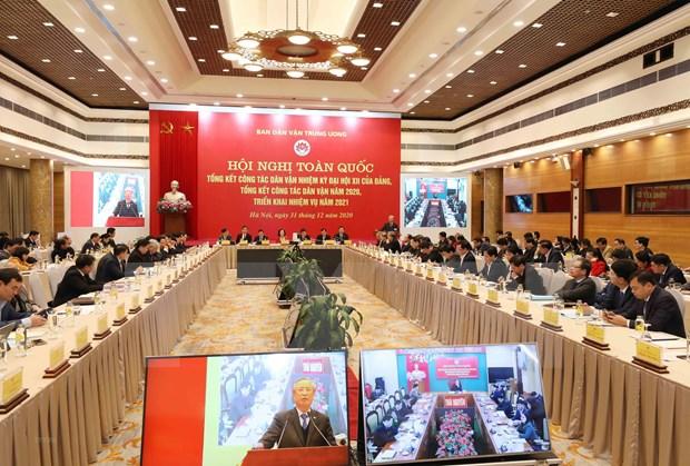 Dirigente vietnamita insta a renovar trabajo de movilizacion de masa hinh anh 2