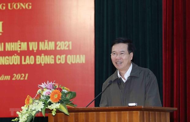 Piden garantizar el funcionamiento del Centro de Prensa del XIII Congreso Nacional del Partido hinh anh 1