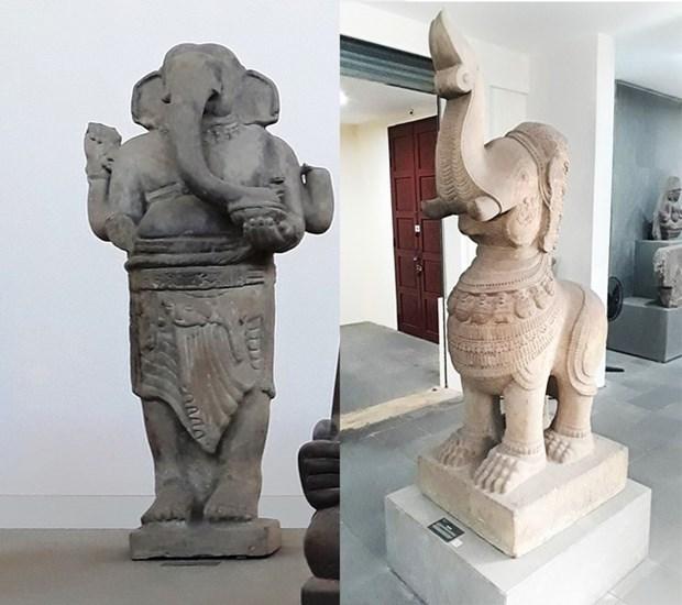 Dos esculturas en Da Nang nombradas tesoros nacionales hinh anh 1