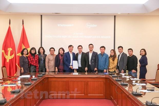 VietnamPlus y empresa Insider cooperan para promover la transformacion digital en la prensa hinh anh 2