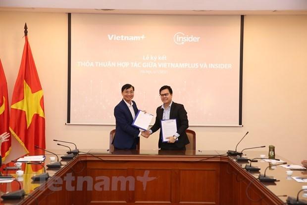 VietnamPlus y empresa Insider cooperan para promover la transformacion digital en la prensa hinh anh 1