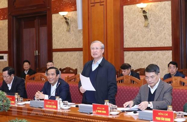 Piden concentrarse para garantizar exito del XIII Congreso Nacional del Partido Comunista de Vietnam hinh anh 1