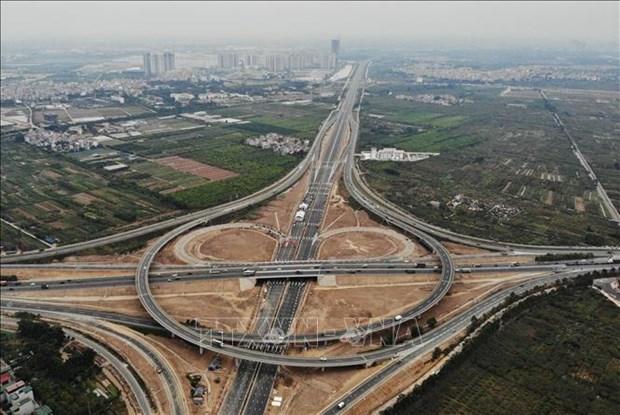 Inauguran intercambiador en la interseccion de la circunvalacion 3 y autopista Hanoi-Hai Phong hinh anh 3