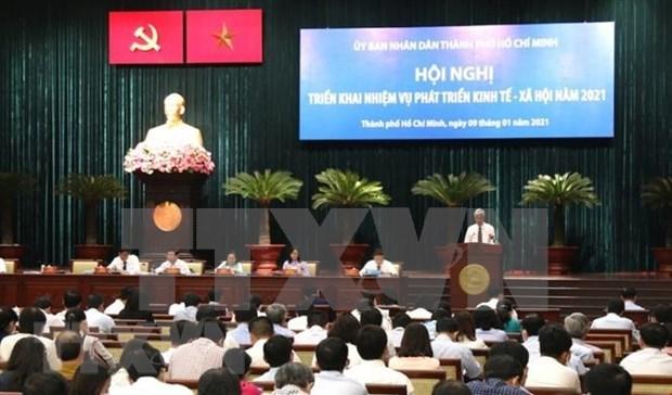 Empena Ciudad Ho Chi Minh en mantener crecimiento economico y mejorar administracion urbana hinh anh 1