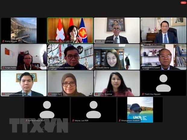 Transfiere Vietnam presidencia del Comite de ASEAN en Berna a Filipinas hinh anh 1