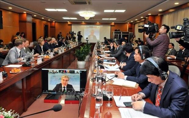 Tratado de libre comercio, motor importante de los nexos Alemania-Vietnam hinh anh 1