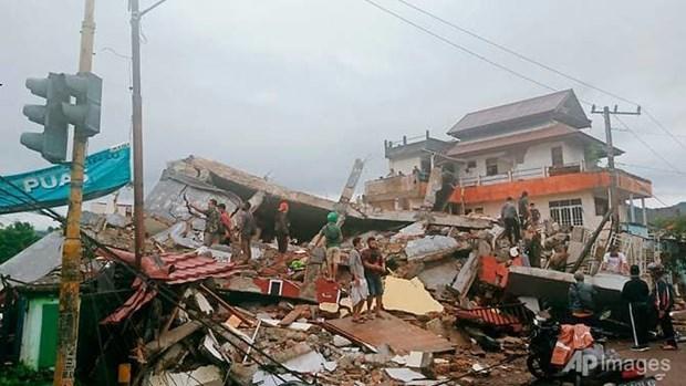 Reportan siete muertos por terremoto en centro de Indonesia hinh anh 1