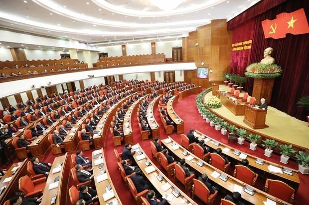 Inauguran XV pleno del Comite Central del Partido Comunista de Vietnam hinh anh 1