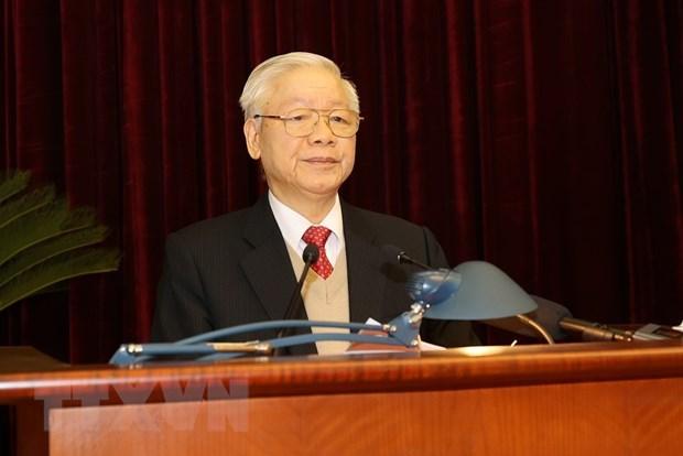 Inauguran XV pleno del Comite Central del Partido Comunista de Vietnam hinh anh 2