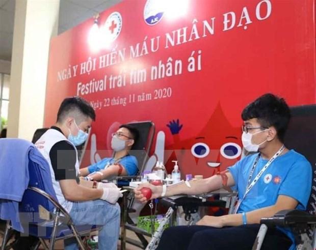 Vietnam por recaudar mas de 1,5 millones de unidades de sangre en 2021 hinh anh 1