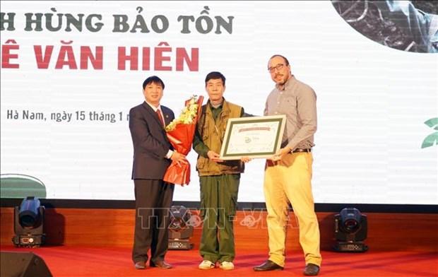 Segundo vietnamita reconocido como heroe de conservacion de Disney hinh anh 1