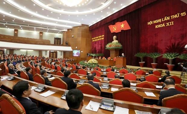 El XV pleno del Comite Central del PCV completa los preparativos para XIII Congreso Nacional hinh anh 1