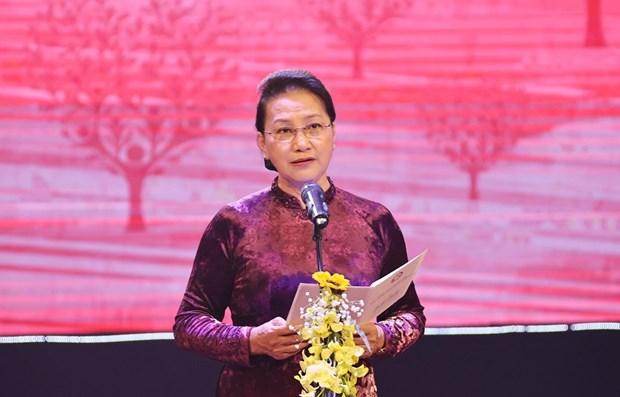 Presidenta del Parlamento vietnamita exhorta a promover apoyo mutuo en comunidad hinh anh 1