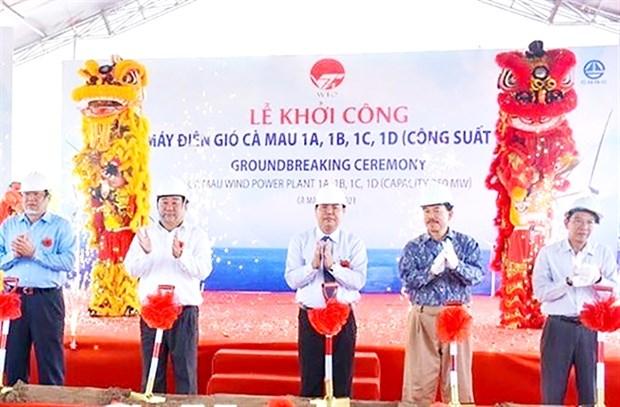 Emprenden proyecto de energia eolica en provincia vietnamita de Ca Mau hinh anh 1