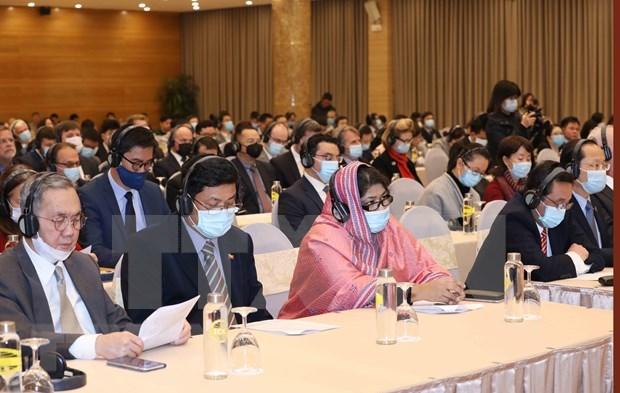Informan a diplomaticos extranjeros sobre XIII Congreso Nacional del Partido Comunista de Vietnam hinh anh 2