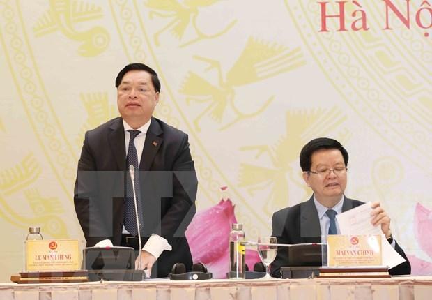 Concluyen preparativos del Centro de prensa del XIII Congreso Nacional del Partido hinh anh 1