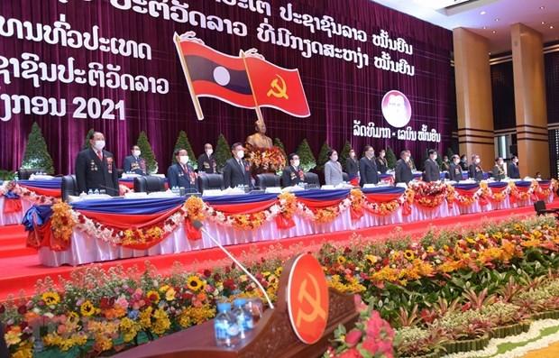 Dirigente de Vietnam felicita a Laos por el exito del XI Congreso Nacional del PPRL hinh anh 1