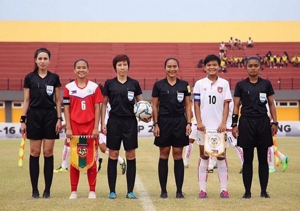Tres arbitras vietnamitas reconocidas en grupo Elite por FIFA hinh anh 1