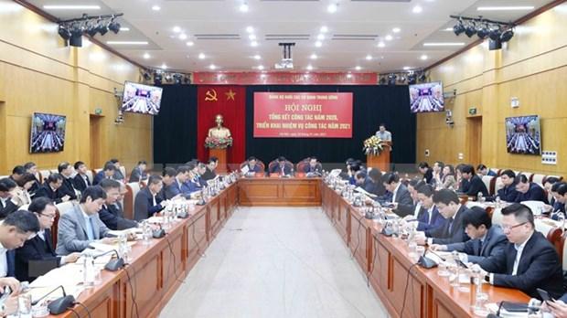 Organizacion partidista del bloque de organismos centrales de Vietnam traza prioridades para 2021 hinh anh 1