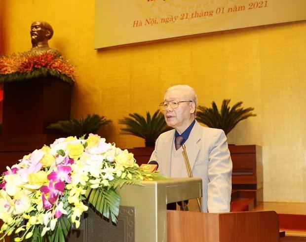 Maximo dirigente de Vietnam pide concentrar esfuerzos para garantizar exito de elecciones generales hinh anh 1