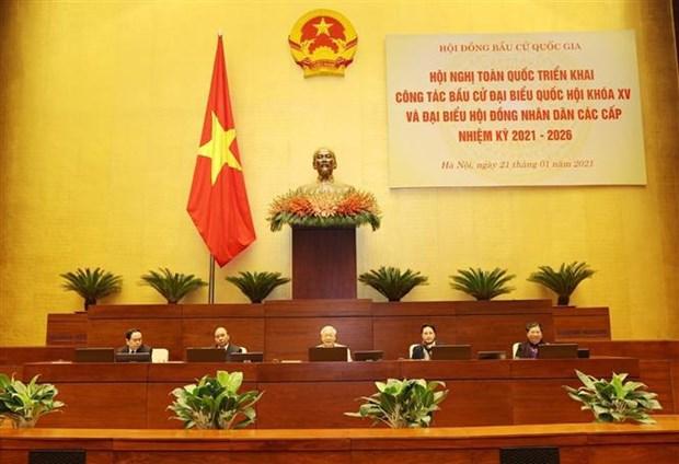 Maximo dirigente de Vietnam pide concentrar esfuerzos para garantizar exito de elecciones generales hinh anh 2