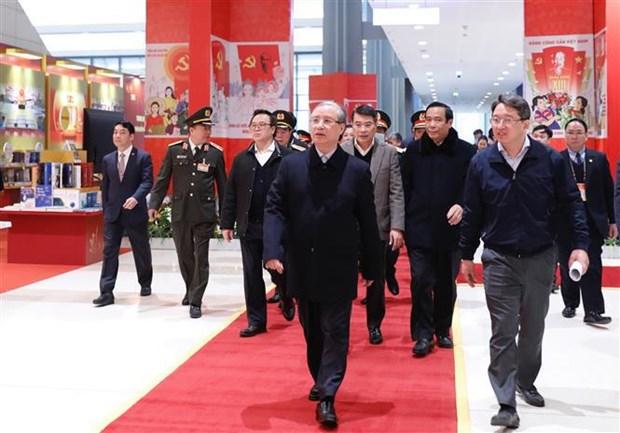 Revisan preparativos para celebracion del XIII Congreso partidista de Vietnam hinh anh 1
