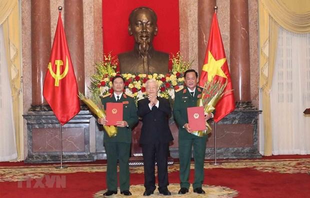 Promueven a rango de coronel general a viceministros de Defensa de Vietnam hinh anh 1