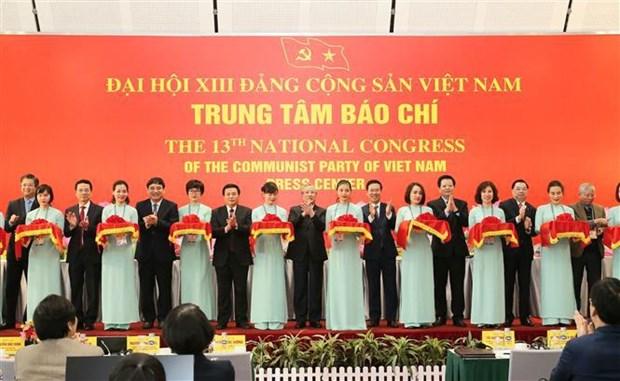 En funcionamiento Centro de Prensa del XIII Congreso Nacional partidista de Vietnam hinh anh 1