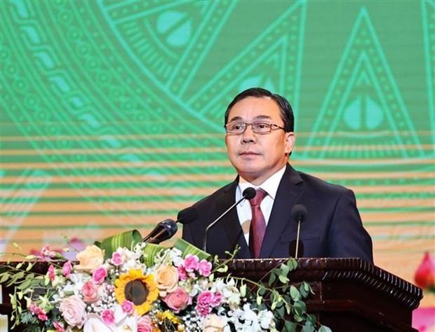 Embajador de Laos resalta papel y liderazgo del Partido Comunista de Vietnam hinh anh 1