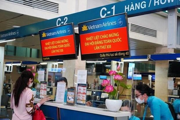 Vietnam Airlines por brindar mejor servicio al XIII Congreso Nacional partidista hinh anh 2