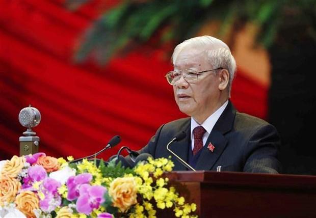 Inauguran XIII Congreso Nacional del Partido Comunista de Vietnam hinh anh 1
