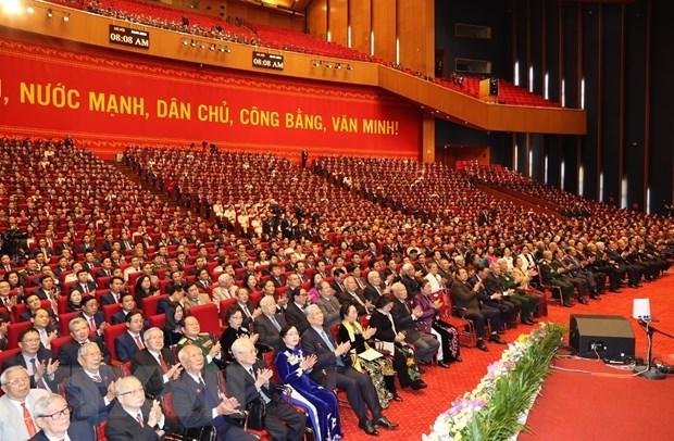 Emiten comunicado de prensa de sesion inaugural del XIII Congreso Nacional del PCV hinh anh 1