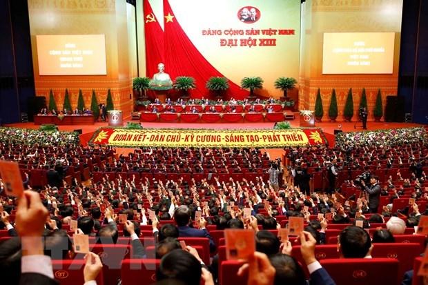 Inauguraran esta manana XIII Congreso Nacional del Partido Comunista hinh anh 1