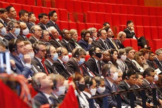 Laos envia mensaje de congratulacion al XIII Congreso partidista de Vietnam hinh anh 1
