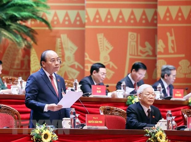 XIII Congreso Nacional del PCV continua debates sobre documentos partidistas hinh anh 1
