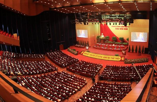 Concluye segunda jornada de trabajo oficial del XIII Congreso Nacional del PCV hinh anh 1