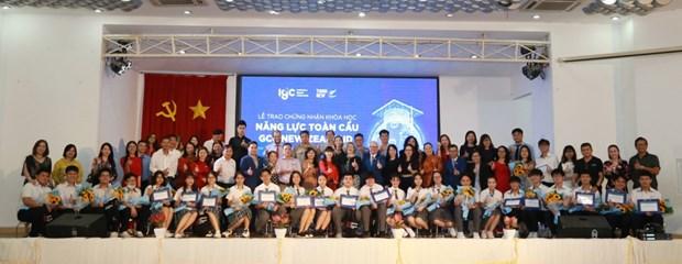 Estudiantes vietnamitas reciben certificado de competencia global de Nueva Zelanda hinh anh 1