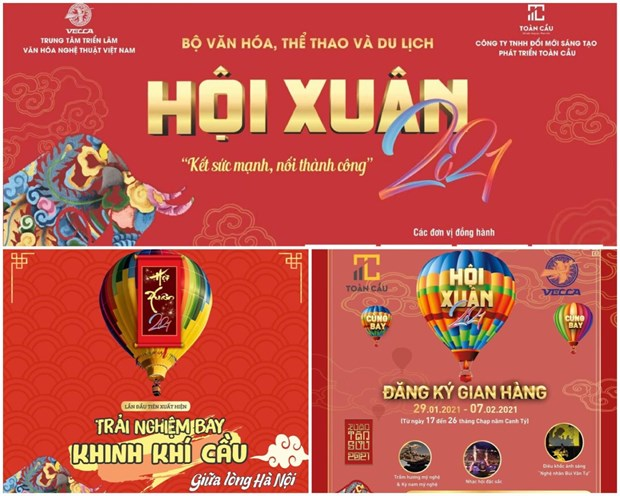 Lanzan vuelos en globo aerostatico en Festival de Primavera 2021 de Hanoi hinh anh 1